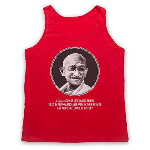 Gandhi Mahatma Tank-Top Weste Rot