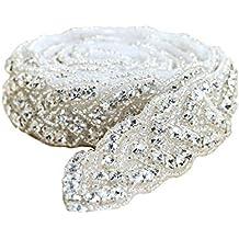 Applique del Rhinestone para el marco de la boda por el hierro encendido o cosiendo (
