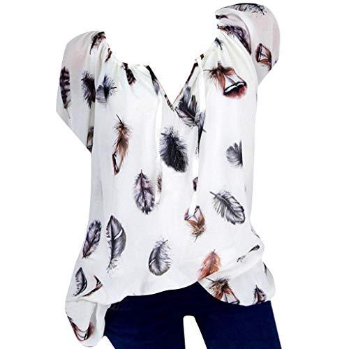 Bellelove T-Shirt Damen Kurzarm Lässige Sommeroberteile V-Ausschnitt Oberteile Bluse Schickes T-Shirt Shirt Große Größe Lässige Sommerbluse Lässige T-Shirt, S-5XL -