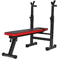 Smibie Banco de Pesas Plegable Banco de Musculación Ejercicios Multifunción Altura Regulable Banco de Fitness para