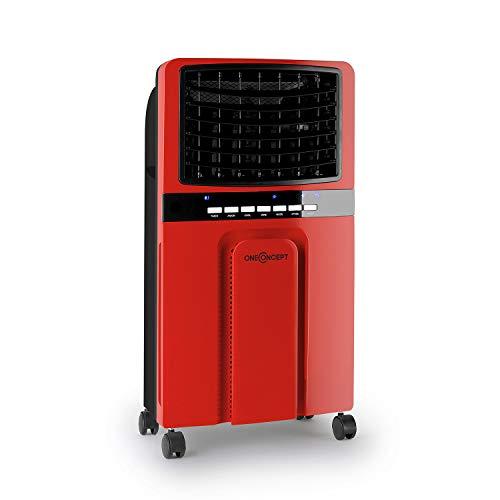 Red Cooler (oneConcept Baltic Red Lufterfrischer mit Wasserkühlung und 65 Watt Leistung • Ventilator • Luftkühler • Luftbefeuchter • 6,2 Liter Wassertank • 3 Leistungsstufen • rot)