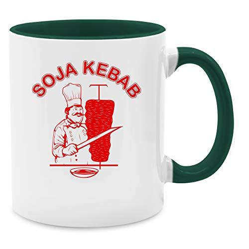 Baby Toast Kostüm - Statement Tasse - Soja Kebab Logo Vegan Vegetarisch - Unisize - Petrolgrün - Q9061 - Kaffee-Tasse inkl. Geschenk-Verpackung