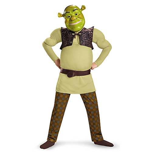 (Disguise Shrek Classic Muscle Costume, Medium (7-8) by Disguise)