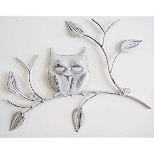 Wall Art   Metal Wall Art   Shabby Chic Wise Owl