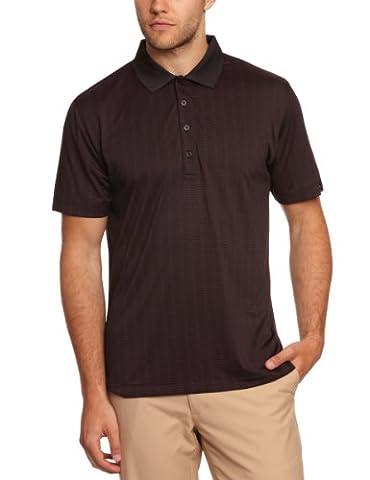 Calvin Klein Golf Performance Polo rayé mercerisé pour homme noir Noir/rose foncé petit