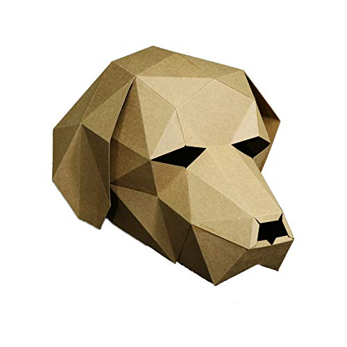 3D Papier Maske Tierkopf Formen DIY Craft Kit, Halloween, Party Kostüm oder Cosplay (Labrador-Hund)