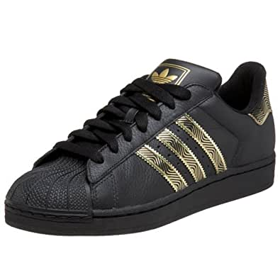adidas originals mens superstar 2 trainers, black/black ...