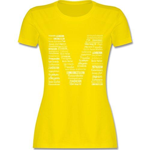 Shirtracer Muttertag - Mama ist Die Beste - Damen T-Shirt Rundhals Lemon Gelb