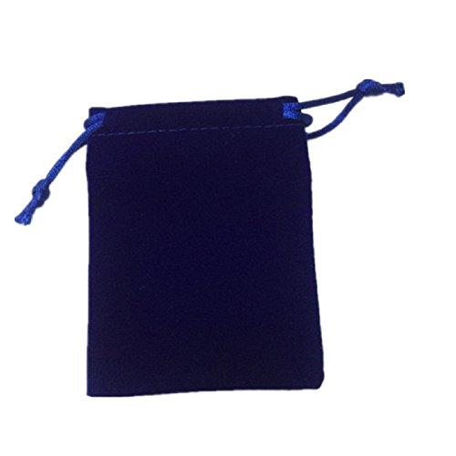 ßhandel Samt Beutel mit Kordelzug, Beutel Taschen 7,6x 10,2cm dunkelblau ()