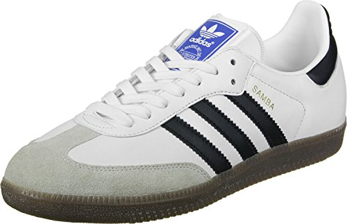 adidas Unisex-Erwachsene Samba Sneakers Weiß (Footwear White/core Black/clear Granite)