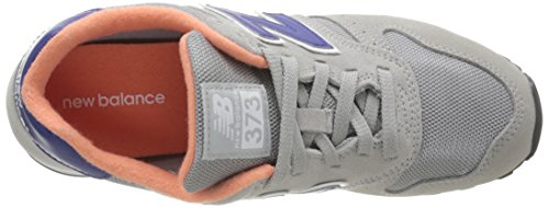 New Balance Damen 487651 50 Sneaker Grau (Grey/Blue/Orange)
