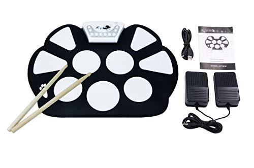 Batería Electrónica Drum Kit Silicona Plegable Drum Pad Instrumentos De Música Con Palillo De...