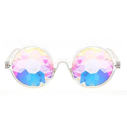 TOOGOO Kaleidoskop Glaeser rave Festival Party Sonnenbrille Beugte Linse-Transparent
