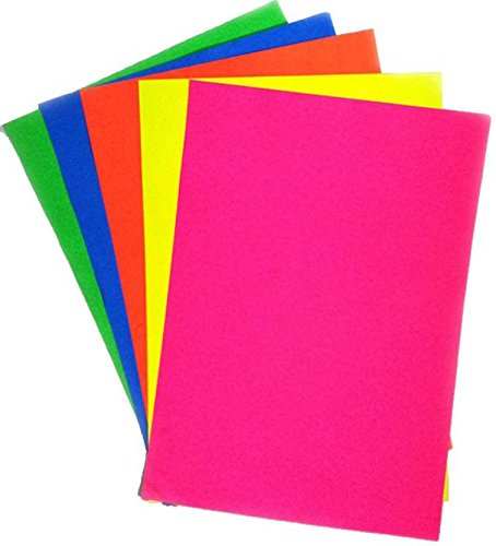 A4 Assorted Coloured Bright Paper 100 Sheets 80gsm