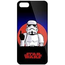 iPhone 5c Star Wars Carcasa de Telefono / Cubierta para Apple iPhone 5C / Protector de Pantalla y Paño / iCHOOSE / Stormtrooper Dedo