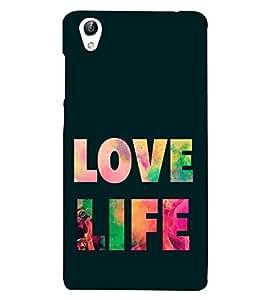 Love Life 3D Hard Polycarbonate Designer Back Case Cover for vivo Y51 :: VivoY51L