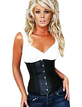 elegante de cuero negro mirada bajo pecho, la cintura 32,34,36,38,40,42,44,46,48,50