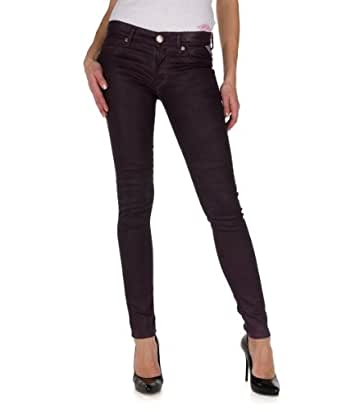 Replay Damen Jeans Luz WX689J-411-291 Slim Fit plum