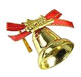 Lumanuby 1pack(9pcs) Décorations de Noël petite cloche pendentif Clochettes Noël Décoration Suspendue Pendentifs de Sapin Noël Doré