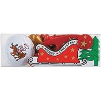 Golfgeschenk / Weihnachtsgeschenk: Nikolaus-Golfball mit Weihnachtstees, Pitchgabel und Ballmarker im Christmas-Design