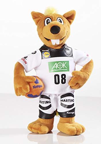 Unbekannt Stofftier Hanniball 28 cm, Maskottchen der Handball WM, Kuscheltier Plüschtier Hannibal