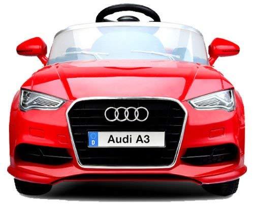 Babycoches - Audi A3 - Coche elétrico niños - Coches con Mando 2.4Ghz- Coches de batería 12v - Coche con Equipo de Audio, USB, SD, MP3 (Rojo)
