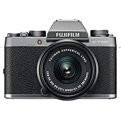 Fujifilm X-T100 - Cámara digital, objetivo XC15-45 mm, 24,2 megapíxeles, Plata