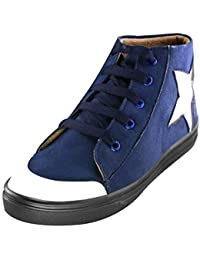 Zapatoz Women's/Ladies/ Female's Suede Star-Blue Casual Ankle Boots Fit Shoes/Casual Ankle Length Shoes/Casual...