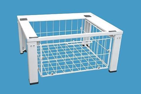 daniplus© Untergestell, Unterbausockel für Waschmaschine / Trockner mit Drahtkorb für weiteren