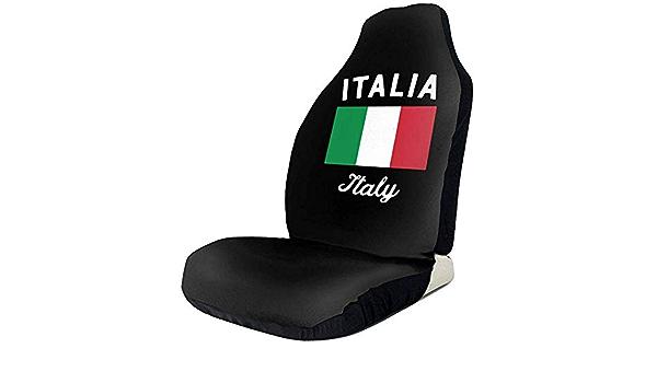 Tridge Sportfan Sitzbezüge Italien Flagge Auto Vordersitzbezüge Für Frauen Set Of Fit Meisten Fahrzeug Auto