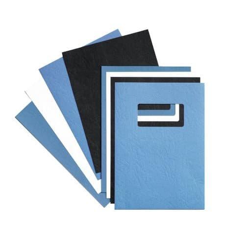 Rexel Acco Einbanddeckel (Ledernarbung, mit Fenster, 280 g/qm, Format A4) 25 x 2 Stück weiß