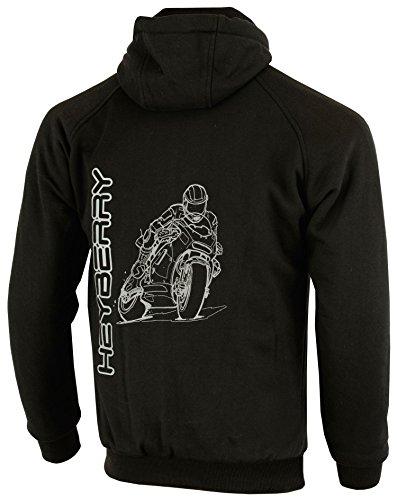 Heyberry Hoody Motorradjacke Hoodie Roller Jacke Schwarz Gr. XL - 2