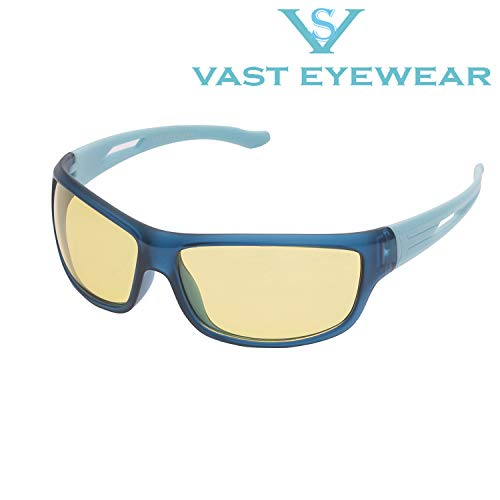 Vast Night Vision Sports Unisex Sunglasses (NT!_BYK|64|Yellow Lens).