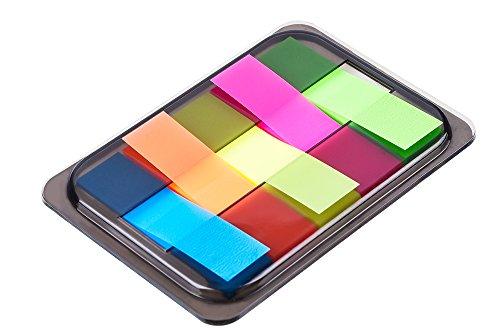 Antner 6 Juegos Neon Page Makers Pop-up Index Tabs Banderas Notas Adhesivas con caja, 3 Tamaño 400 Piezas
