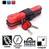 Cerradura Plegable para Bicicletas - Antirrobo Heavy Duty High Security Harden Steel Cerraduras Plegables compactas para