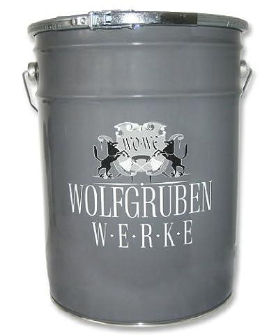 6,99 EUR/L - PEINTURE POUR SOL Type: Wolfgruben Werke (WO-WE) W700 pour peindre le garage, sous-sol, des entrepôts, des ateliers / applicable aux sol de béton, chape de ciment, bois et métal / pour intérieur et extérieur / extrêmement durable / résistant à l'essence d'huile et à nombreux produits chimiques / platine-gris similaire RAL 7036 - 10L