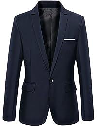 LvRao Hombres Casual Un-Botón Camisa Primavera Otoño Business Blazers Trajes de Vestir Chaqueta