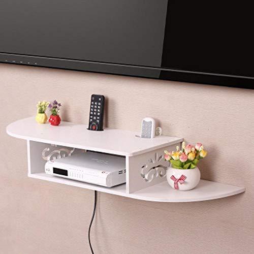 Yunfeng Platz Rack kreative Garten Wand TV Schrank Set-Top-Box Regal Router Aufbewahrungsbox Montage Halterung Wandbehang Schindeln FR AME (Router-halterung)