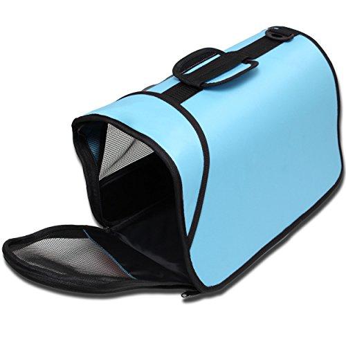 Kleintier Tasche Transporttasche Box Katze Hund Kaninchen ca. 45x25x23cm blau