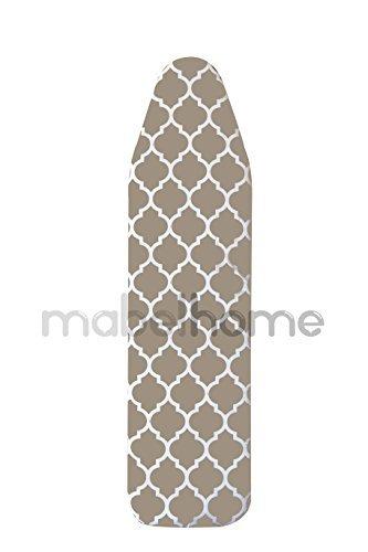 Mabel home asse da stiro imbottito copertura, 100% cotone, 137,2x 38,1cm–marrone chiaro/bianco con motivo
