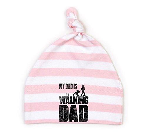 Mikalino Baby Mütze My Dad is the Walking Dad, Farbe:rosa-white;Grösse:6-12 Monate (Walking Dead Hats)