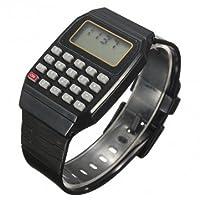 High Quality Children Silicone Date Multi-Purpose Electronic Wrist Calculator Watch - Black
