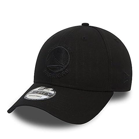 New Era Golden State Warriors 9forty Black On Black Strapback Cap Adjustable 940