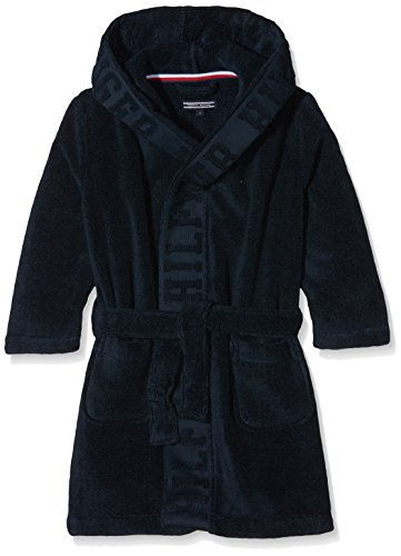 Tommy Hilfiger Jungen Bademantel Bathrobe, Blau (Navy Blazer 416), Medium