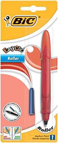 BIC Tinten-Roller EasyClic (mit seitlichem Nachfüllmechanismus, 0.7 mm, Schaftfarbe 2-fach sortiert) Blister à 1 Stück