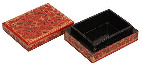 ANGEBOT DER TAG–souvnear Dekorative rote (Farbe der Liebe) Box–Papier Pappmaché Schmuckkästchen 750Box...