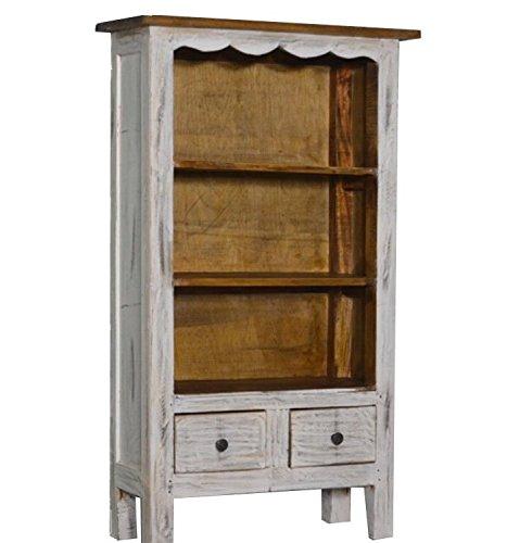 Bücherregal Bücherschrank Schrank Regal Mahagoni Möbel Bibliothek Mit Neu Antik 99 x 57 x 26 cm