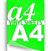 JasonCarlMorgan A4 Neon Green 297x210mm 1x Flex Iron On Transfer Paper Clothing Garment Vinyl