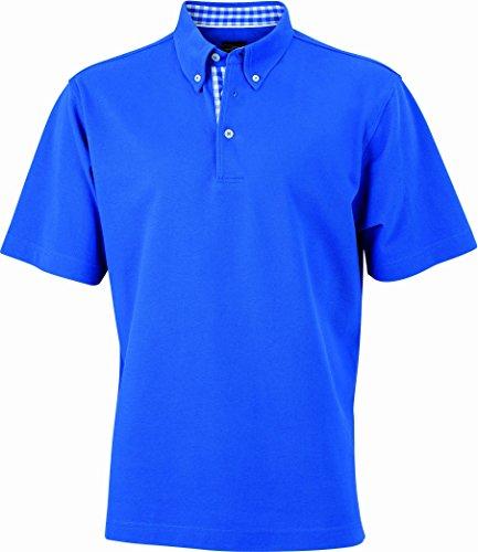 james-nicholson-herren-poloshirt-poloshirt-mens-plain-blau-royal-royal-white-medium