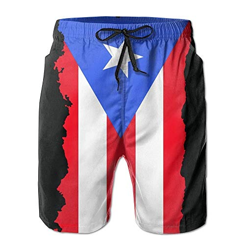fjfjfdjk Men's Rainbow Summer Striped Beach Shorts Breathable Boardshort Small -